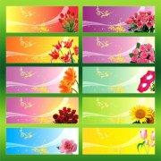 海报背景模板 展板模板 背景设计模板 鲜花海报设计模板