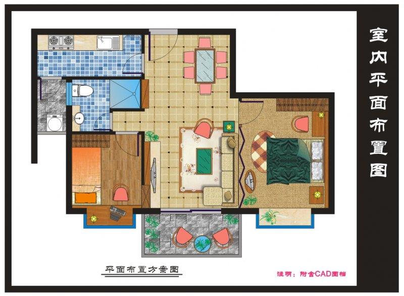 【cdr】室内设计平面布置图(附cad图档)