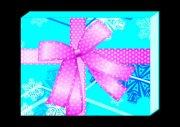 粉紅蝴蝶結-藍盒設計