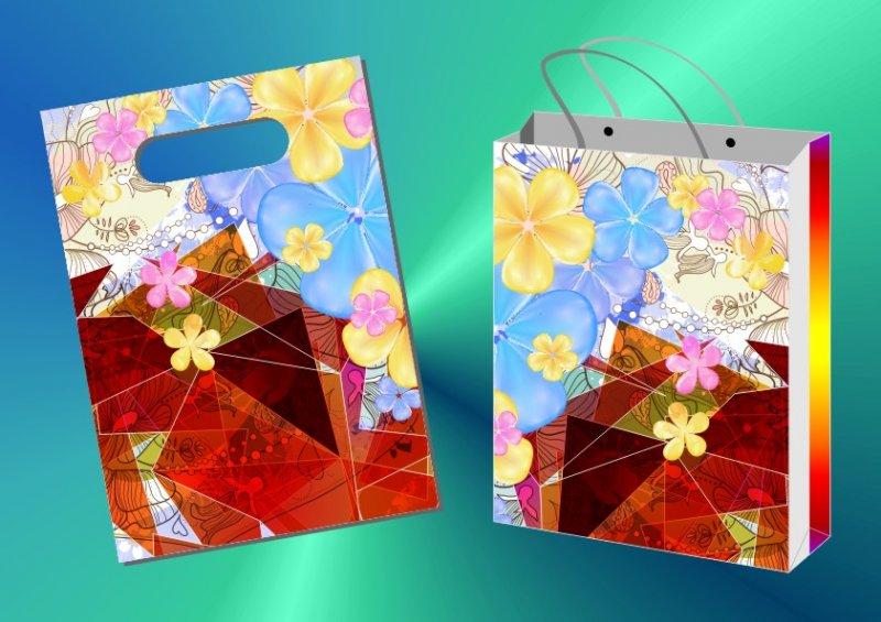 花纹素材 花纹背景 漂亮 底纹背景 缤纷线条 说明:-兰花格子-礼品袋