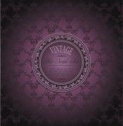 紫色欧式商务花纹矢量图