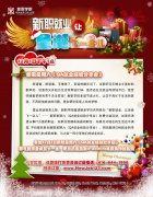 圣诞元素宣传单页