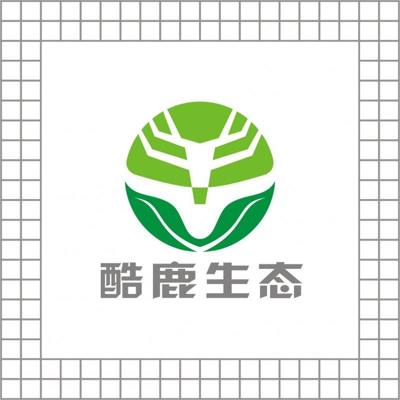 【cdr】酷鹿生态logo设计 动物标志出售 生态环保科技