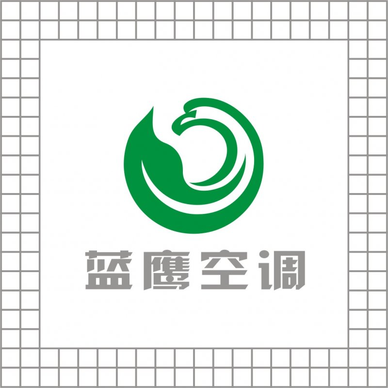 蓝鹰空调logo设计 原创标志出售 绿叶logo设计