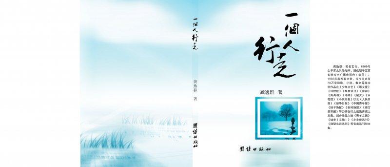 【psd】诗集封面设计 一个人行走图片