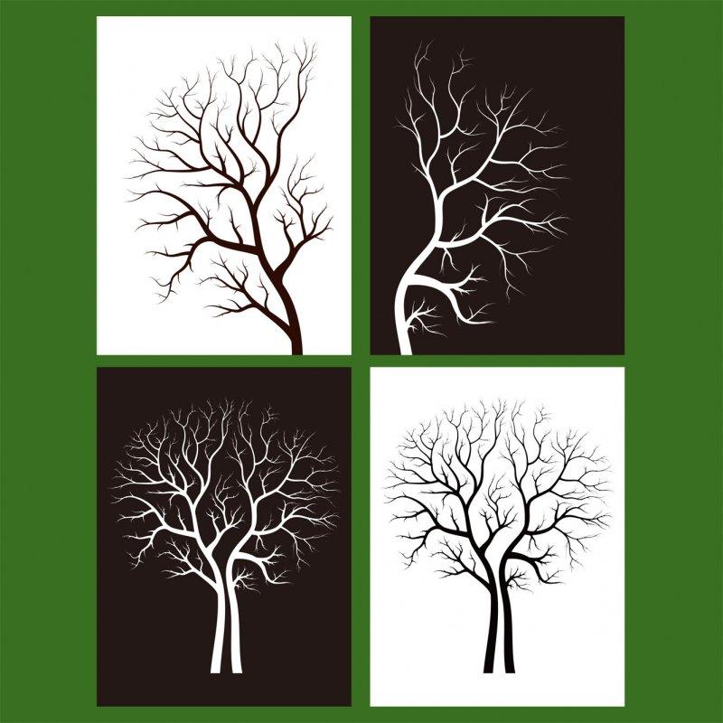 【ai】树木装饰画矢量素材