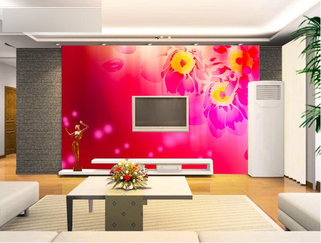 客厅欧式电视背景墙装修图片