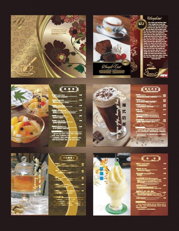 【cdr】欧式时尚菜单设计