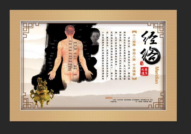 【psd】中医经络养生文化海报