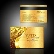 金属质感高档尊贵VIP会员卡贵宾卡PSD下载