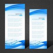 蓝色科技X展架易拉宝设计矢量背景模板