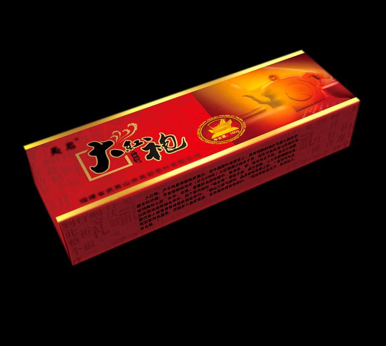 【cdr】大红袍茶叶包装设计模板