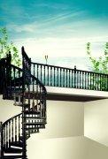 楼梯园林 唯美天空后花园