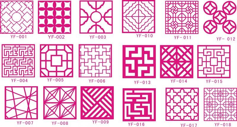 【cdr】镂空隔断图案 雕刻图案