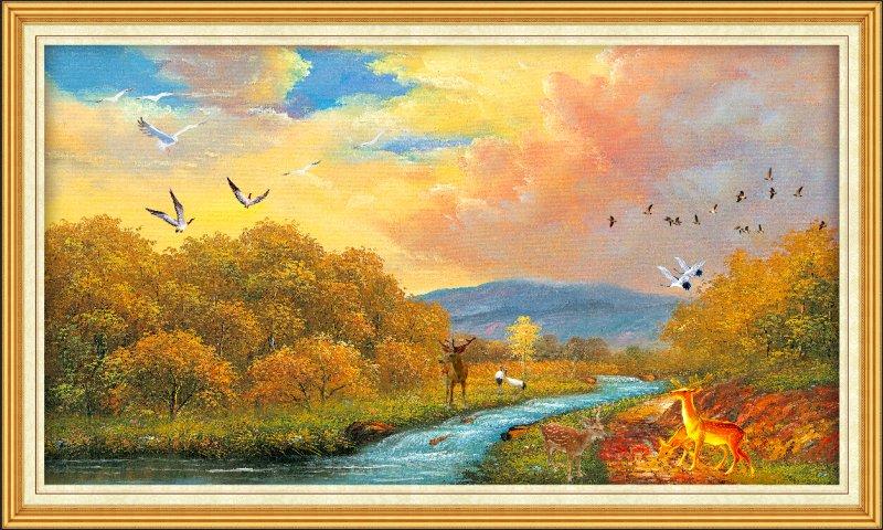 【psd】欧式风景油画图片