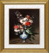 高清手绘花卉油画