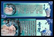 青花中医养生文化海报
