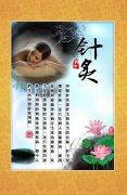 中医针灸养生文化海报
