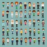 50款卡通人物设计矢量素材
