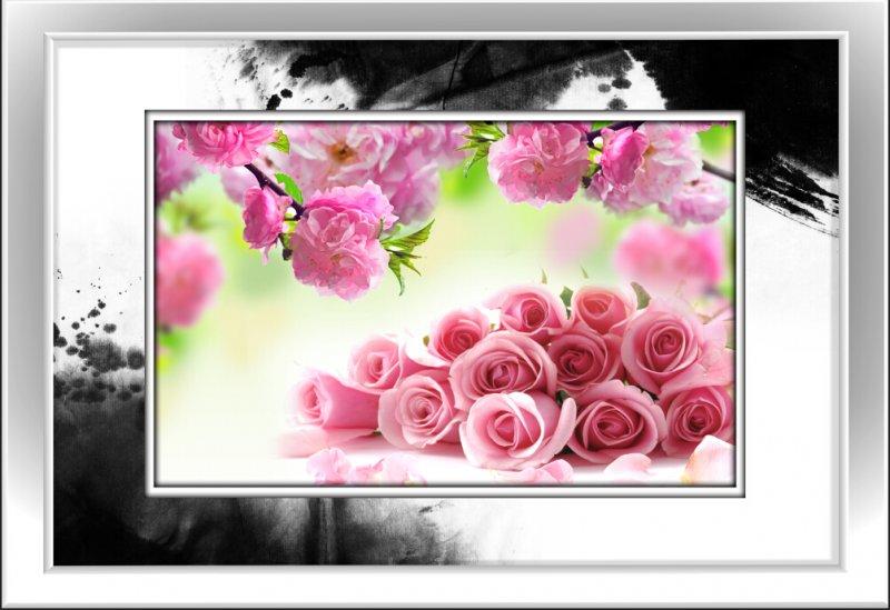 水墨创意花卉装饰画
