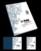 复古花纹创意杂志封面设计