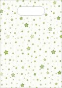 绿花条纹袋