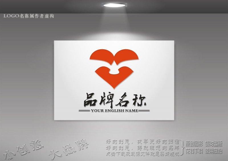红色爱心logo 心连心爱心logo