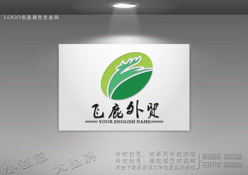 飞鹿logo 酷鹿生态logo设计