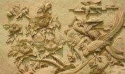 木雕花鸟壁画