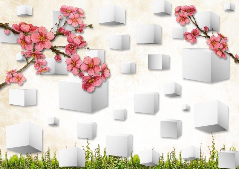 3D梅花背景墙
