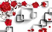 3D玫瑰背景墙