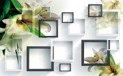 3D水仙花背景墙
