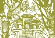 古代寺庙 建筑画