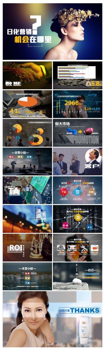 商业计划书日化营销策划书ppt模板