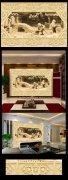 大理石3D立体玉雕壁画电视背景墙专用
