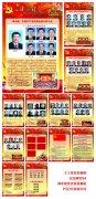 庆七一共产党党成立周年历程展板图片