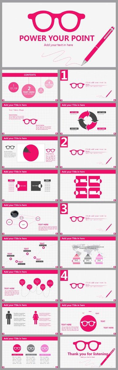 眼镜行业计划总结会议销售PPT模版