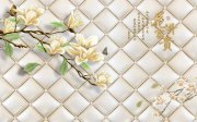 琉璃玉兰花背景墙