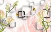 3D百合花背景墙