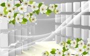立体花卉背景墙