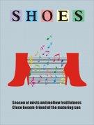个性时尚男鞋女鞋通用海报矢量模板