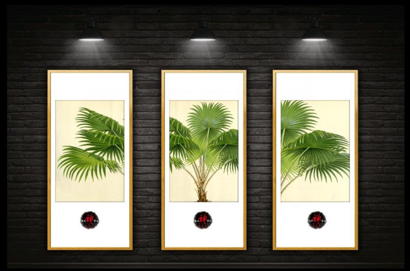 禅意树木装饰画