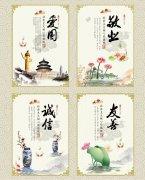 中国风道德礼仪海报展板