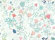 背景墙水彩花卉