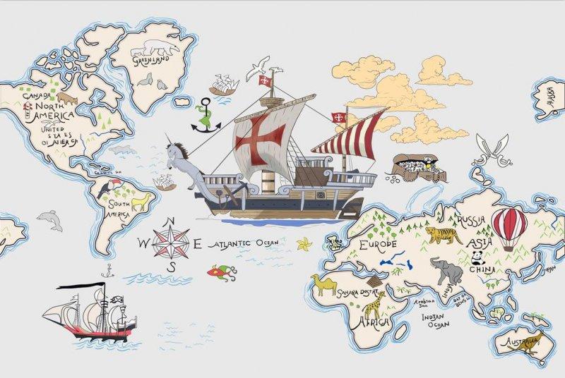 世界地图海盗船