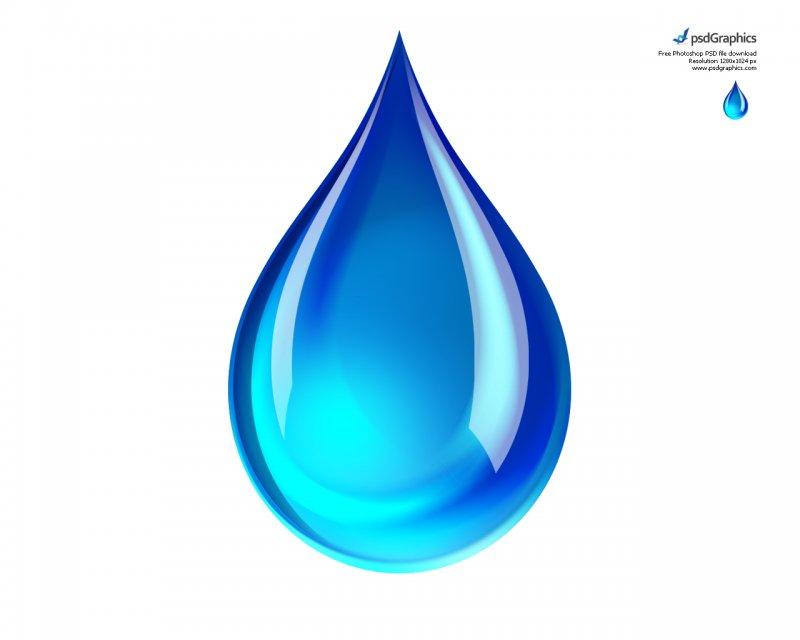 精致蓝色水滴PSD素材