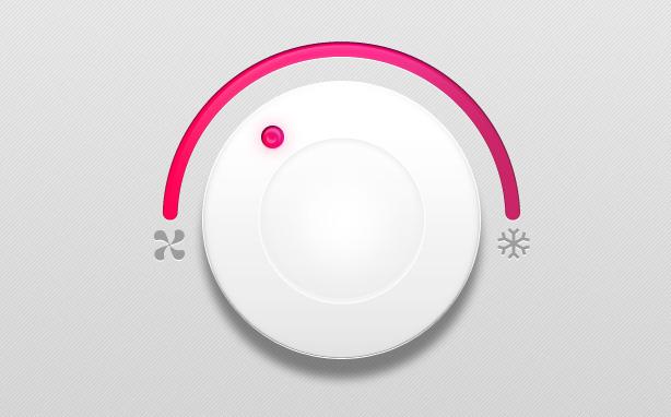溫度調節旋鈕PSD素材