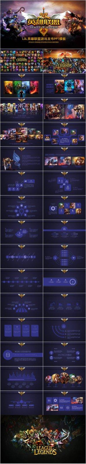 LOL英雄联盟网络游戏发布PPT模板