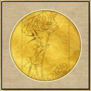 新中式线描荷花装饰画