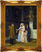 古典宫廷油画扫描原稿